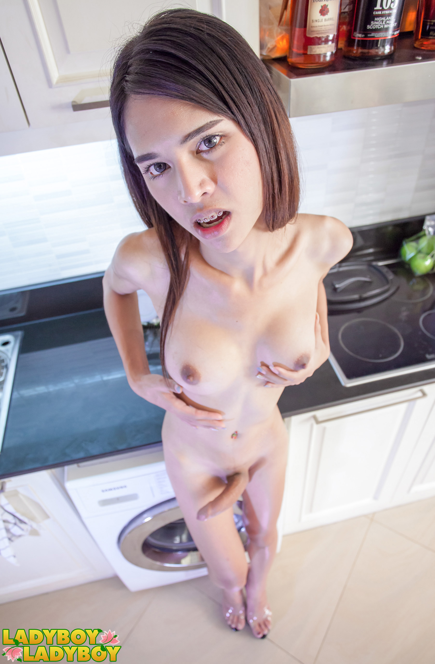 from Leonard naked tranny in kitchen