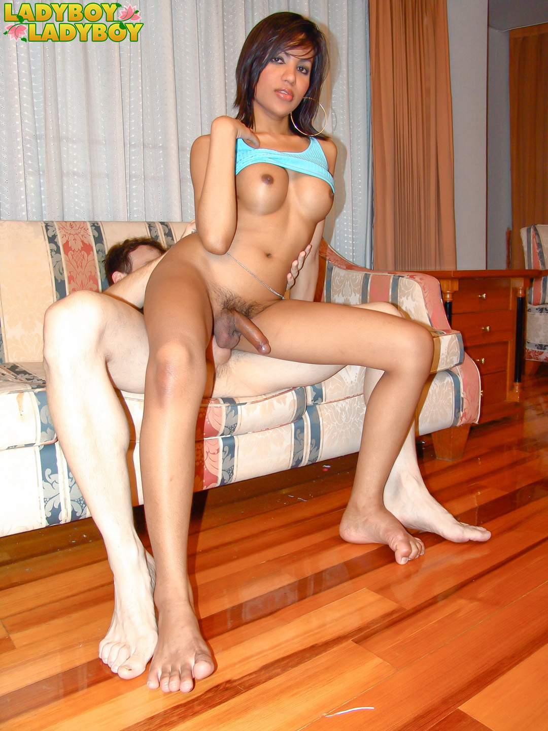 Stunning Asian tranny barebacked by a huge stiff cock